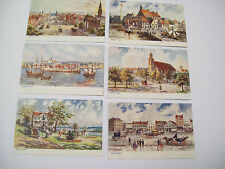 """OLD NEW YORK"" RALPH TUCK OILETTE POST CARDS LOT OF 6"
