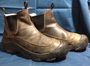Brown Leather KEEN Dry Waterproof Anchorage Sz 44.5 / 11 Boots Hiking