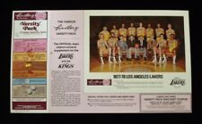 >Rare 1977-78 LOS ANGELES LAKERS Lindberg Nutrition BASKETBALL PHOTO Jerry West