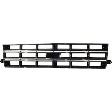 Grille For 82-90 Chevrolet S10 83-90 S10 Blazer Chrome Shell w/ Black Insert