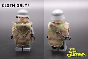for LEGO World War 2 WW2 WW1 German Splinter Camo Camouflage Poncho  Cloth Set