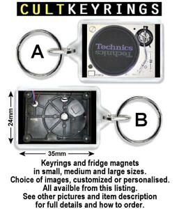 Technics 1200 keyring / fridge magnet - 1210, gold, turntable, decks