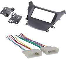 95-7362B Double-Din Radio Install Dash Kit & Wires for Elantra, Car Stereo Mount