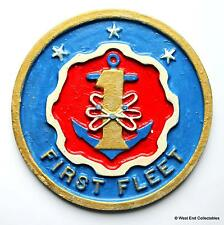 US Navy First Fleet - United States Navy Ship Metal Tampion Plaque Badge Crest