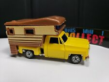 VINTAGE YATMING YELLOW CHEVY STEPSIDE CAMPER MADE IN HONG KONG - LOOSE - A7