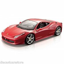 Bburago FERRARI 458 ITALIA RED 1/24 Diecast cars NEW IN BOX 18-26003RD