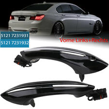 2x Exterior Front Right+Left Door Handle Black Chrom For BMW F07 F10 F06 F11 F01