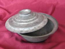 19C. Antique Turkish Ottoman Muslim Islamic Metal Bowl w/Lid