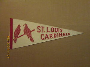 MLB St.Louis Cardinals Vintage 1940's 2 Birds on the Bat Logo Baseball Pennant