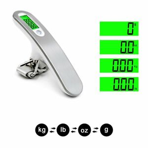 LCD Digitale Kofferwaage 50KG Gepäckwaage Reisewaage Handwaage Luggage Scale DHL