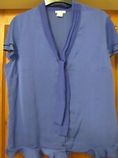 Womens Summer Top/Blouse Anne Weyburn Mauve/Purple Bow Frill Short Sleeve 16