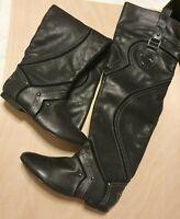 Ladies Knee-High Boots ZIGIny Black Size 4