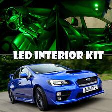 For 11-16 Subaru WRX STI LED Xenon Green Interior Light LED Bulb Kit QTY = 10pc