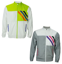 Adidas Mens Fashion Performance Lined Woven Colorful Rain Jacket, Color Options