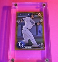 2016 Bowman Jake Bauers BP131 GOLD BORDER  #d/50 Rays Indians Rookie RC