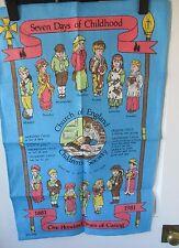 """I bambini della società una hundread ANNI """"Vintage Asciugamani. lino irlandese."""