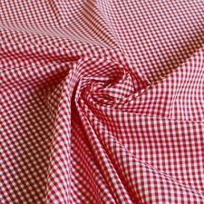 1 Yard*140cm Thin Red Yarn Dyed Small Checks Cotton Fabric Gingham Cotton Nylon