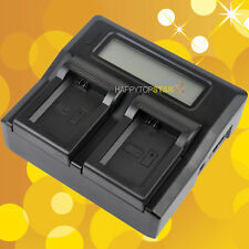 Fast Dual Digital LCD Battery Charger For SONY NP-FW50 A6300 NEX-6 NEX-7 NEX-5R