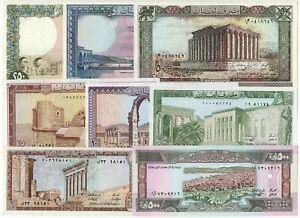 023 - LOT de 8 BILLETS LIBAN - TTB à NEUF