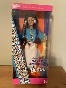 Native American Barbie 2nd Edition New In Box Dolls Of The World Collec