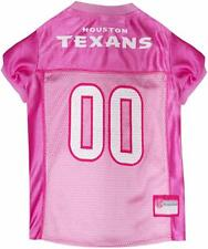 Houston Texans Nfl Football Officially Licensed Pet Pink Dog Jersey Small