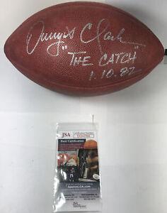 "AUTOGRAPHED DWIGHT CLARK FOOTBALL ""THE CATCH"" JSA Certified S220"