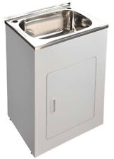 Brand new 45L stainless steel sink laundry cabinet / trough with adjustable legs