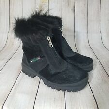 PAJAR Black Fur Boots | Womens Size 36 or 5.5 | Made In Italy