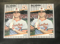 2X Lot 1989 Fleer Billy Ripken FF Black Box Cover #616 Baltimore Orioles