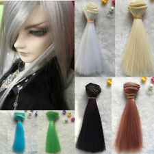 DIY BJD SD Straight Doll Wigs Synthetic Hair For Dolls Colors Gold Beige 6 X0D9