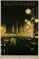 Deutschland Germany Vintage Travel Art Print Poster 24x36 inch