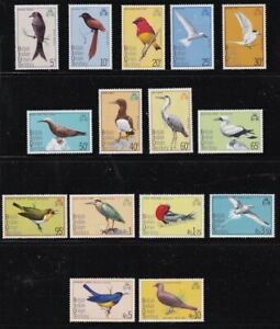 Album Treasures BIOT Scott # 63-77 Birds of BIOT  Mint NH