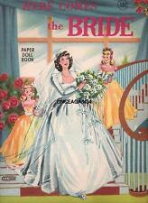 Vintage Uncut 1940's Here Comes The Bride Paper Dolls~9 Pages Clothes!~#1 Repro