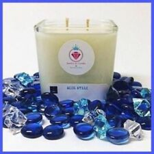 BLUE STEEL NECKLACE CANDLE