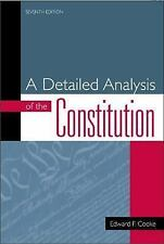 A Detailed Analysis of the Constitution by Edward F. Cooke (2002, Paperback,...