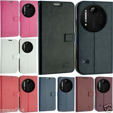 FOR NOKIA LUMIA 1020 PU LEATHER CASE COVER FLIP WALLET POUCH SLIM SMART STAND