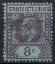 Malaya Straits Settlements 1902-3 SG#114, 8c Purple/Blue KEVII Used #A81934