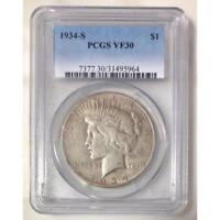 1934 S Peace Dollar PCGS VF30 *Rev Tye's* #596470