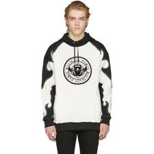 BALMAIN  White and Black Western Coin Hoodie L, oversized, fits as XL