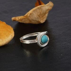 Boho Bohemian Turquoise Stone Ring Jewellery Hippy Gypsy Tibetan Jewelry FA