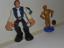 Vtg. Large Star Wars Han Solo? Figurine + C3Po small figurine? cake topper?