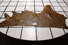 """Beautiful """"Pekanbaru"""" Brown Scrap Leather Hide Approx. 10 sqft. G33X12-5"""