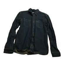 Gustin Denim Button Front Long Sleeve Shirt Men's Size Medium M
