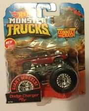 Hot Wheels Monster Truck Red Dodge Charger Giant Wheels Collectible Wheel
