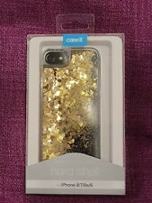 Case It Moving Gold Hearts Protective Hard Shell Apple iphone 6 6s 7 8 Cover BN