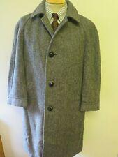 "Genuine Harris Tweed Grey Coat Size L 42""  Regular Euro 52 R"