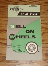 Original 1954 Pontiac Sales Digest Sales Brochure Folder 54