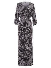 CHARLIE BROWN BLACK/WHITE MAXI DRESS SIZE 6 XS BNWOT