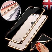 Chrome Clear Thin Case Soft Gel TPU Soft Bumper Cover For iPhone 6S 7 8 PLUS