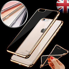 Chrome Transparent étui Ultra fin Gel Souple TPU Doux Antichoc coque pour iPhone